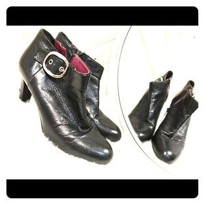 Authentic black Coach buckle booties